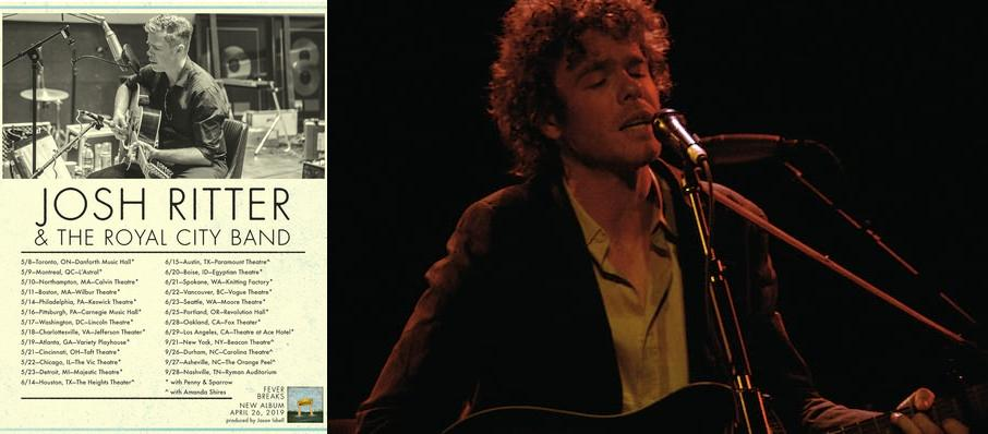 Josh Ritter at Carnegie Library Music Hall Of Homestead