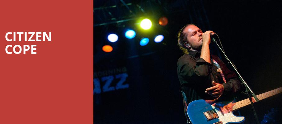 Citizen Cope, Carnegie Music Hall, Pittsburgh