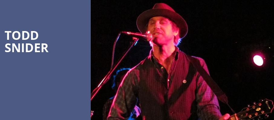 Todd Snider, Roxian Theatre, Pittsburgh