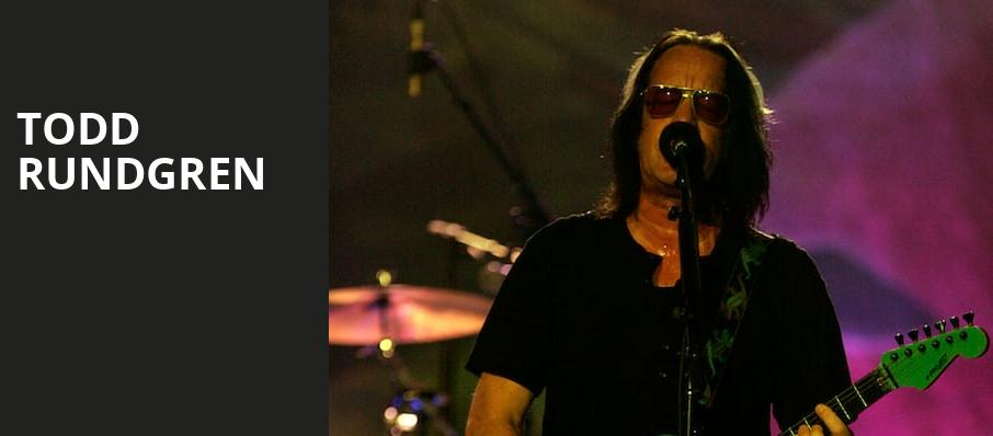 Todd Rundgren, Carnegie Library Music Hall Of Homestead, Pittsburgh