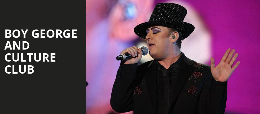 Boy George and Culture Club, Stage AE, Pittsburgh